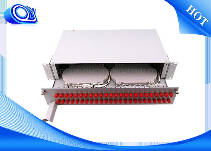 PP – FC 48 Port Optical Fiber Patch Panel Fixed & Sliding Type For FTTH